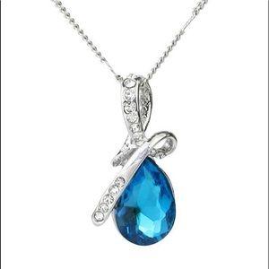 Blue Crystal Angel Tears Pendant